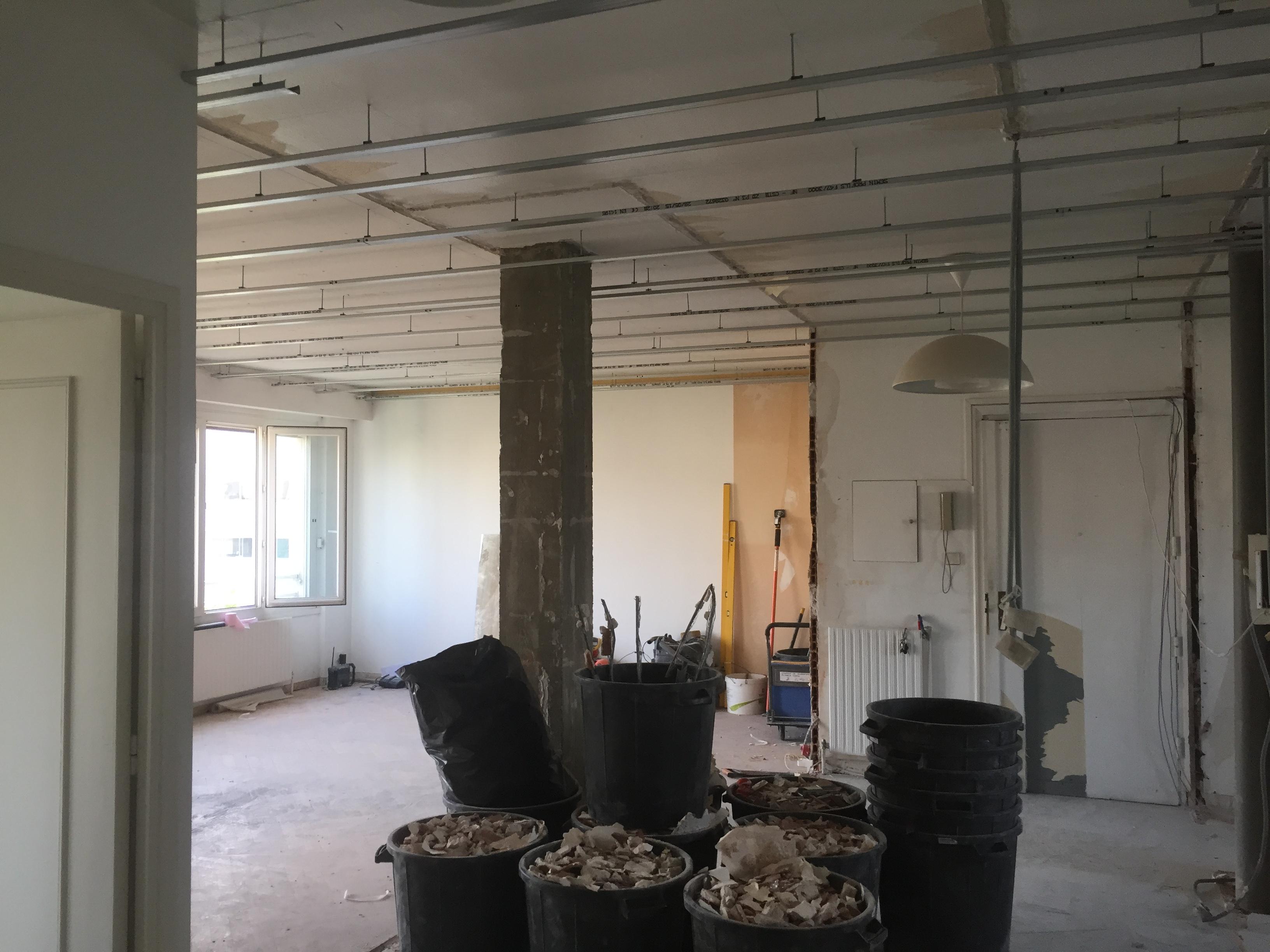 Préparation des plafonds