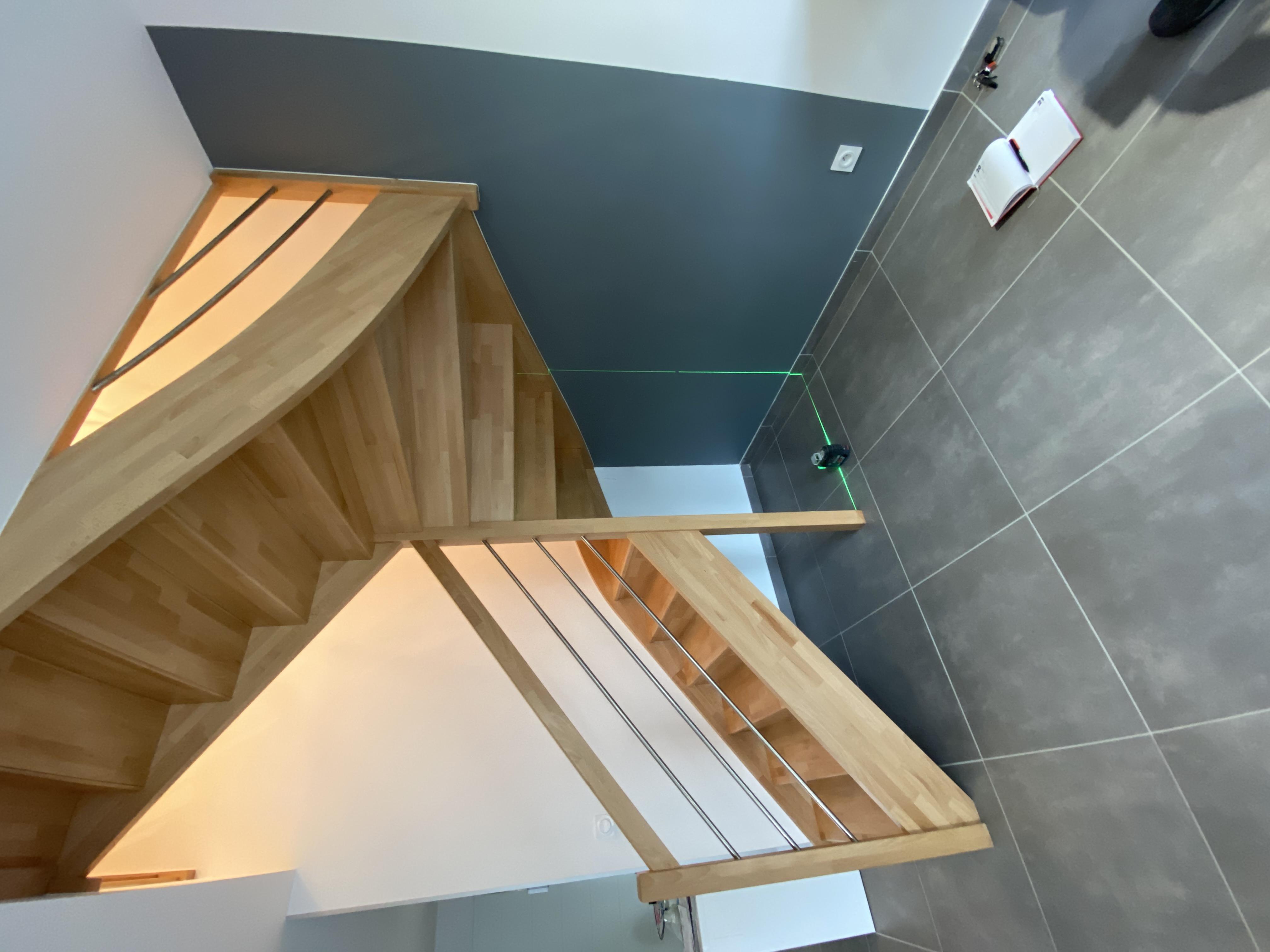 Aménagement sous-escalier sur mesure Lyon  Avant
